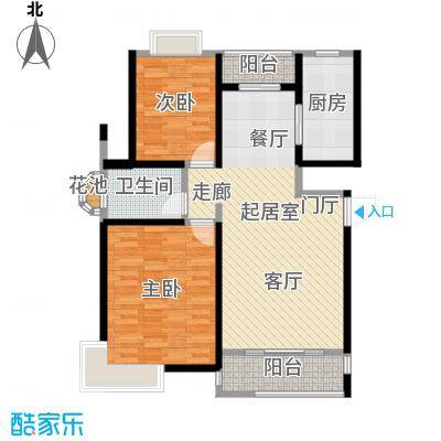 越湖名邸90.00㎡房型: 二房; 面积段: 90 -113 平方米;户型