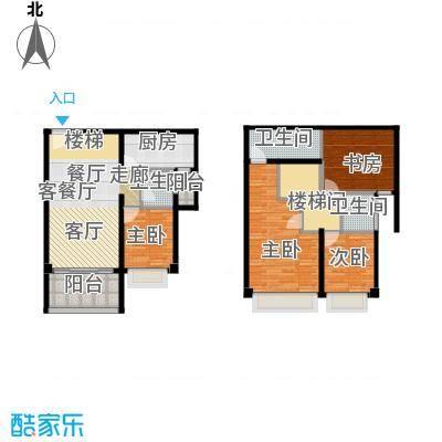 光明大第84.00㎡1-2栋E型4房2厅2卫户型4室2厅2卫