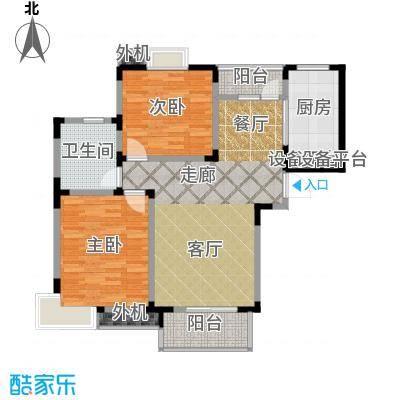 星胜客90.00㎡星胜客户型图二房二厅一卫-96平方米(5/9张)户型10室