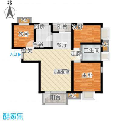 亿城左岸香颂98.00㎡亿城左岸香颂户型图F4户型(1/4张)户型10室