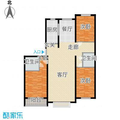 山水宜居161.00㎡山水宜居户型图V户型(4/12张)户型3室2厅2卫