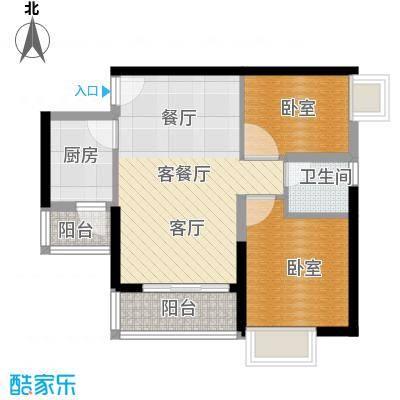 中惠丽阳时代二期53.39㎡户型1厅1卫1厨