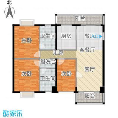 世纪新潮豪园118.28㎡标准层C户型3室1厅2卫1厨