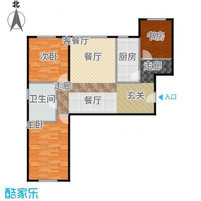 冠城大通澜石115.51㎡A户型3室1厅1卫1厨
