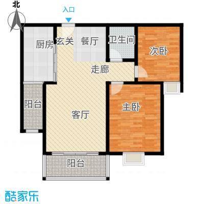 瓯江现代城LL户型2室1卫1厨