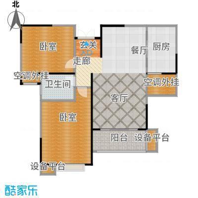 惠泽云锦城89.00㎡C1户型2室2厅1卫