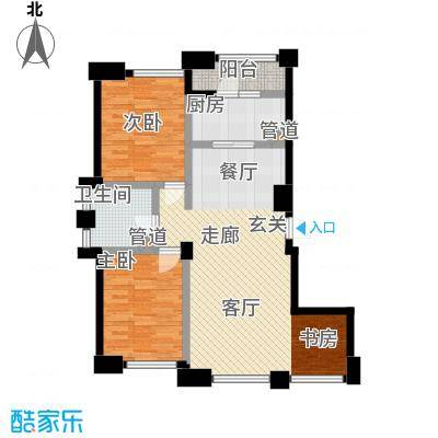 左岸尊邸户型2室1厅1卫1厨
