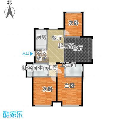 华发新城144.88㎡B户型3-1单元1#/2单元3# 三室二厅二卫户型3室2厅2卫