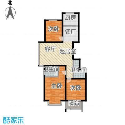 巨华世纪城125.00㎡2区 E1户型3室2厅2卫