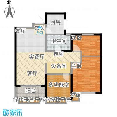 金地假日广场103.00㎡B户型 3房2厅1卫户型3室2厅1卫