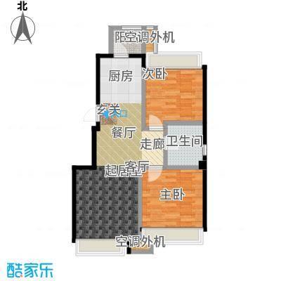 连海金源85.00㎡二室二厅一卫户型2室2厅1卫