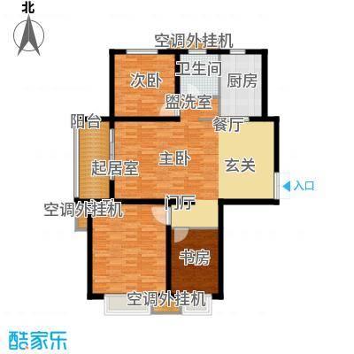 五洲国际广场111.37㎡A户型3室2厅1卫