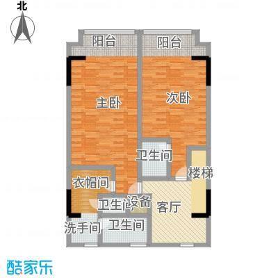 漕湖之星5#欧式二层户型2室1厅3卫