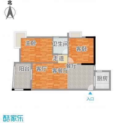 盛和新都会3栋标准层04户型2室1厅1卫1厨