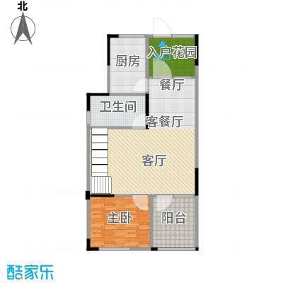 武汉锦绣香江D1层改造后户型1室1厅1卫1厨