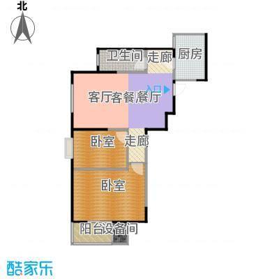 金泰怡景花园95.00㎡B15户型两室两厅一卫户型2室2厅1卫