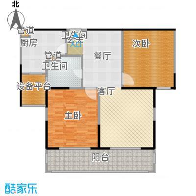 合生海景1号95.00㎡C户型2室2厅1卫