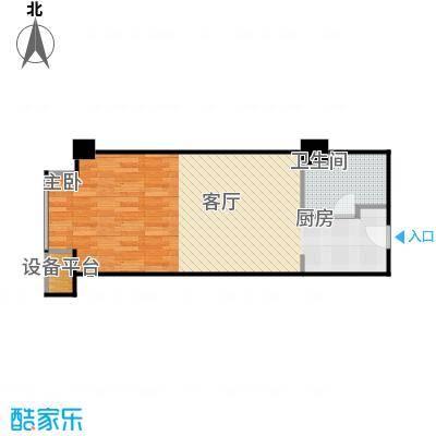 蠡湖国际公寓B户型1卫