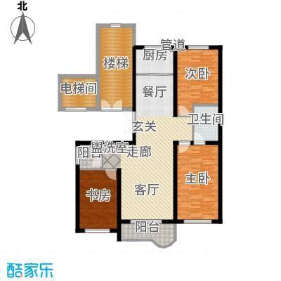 绝对城市129.69㎡绝对城市户型图三室两厅两卫(5/5张)户型3室2厅2卫