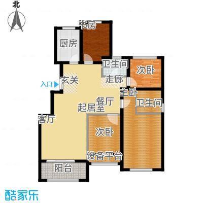 青枫国际122.00㎡青枫国际G户型3+1房户型3室2厅2卫