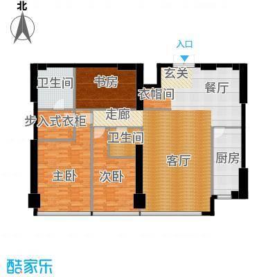 星海大观二室半二厅二卫 190.73㎡户型