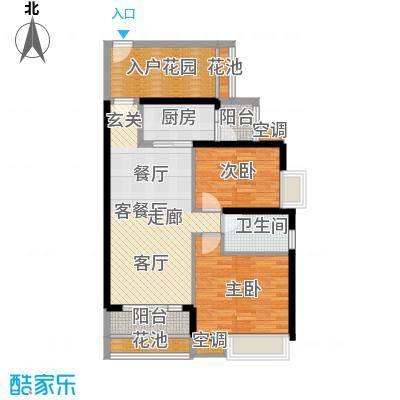 中熙弥珍道舒畅2+4栋03048栋0304户型2室1厅1卫1厨