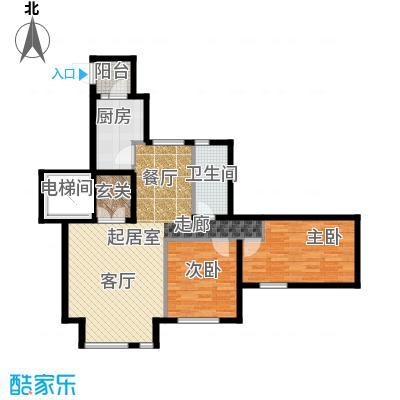 金地艺境95.00㎡7层洋房G-1户型 两室两厅一卫户型2室2厅1卫