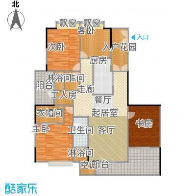 嘉裕丹顿阳光E座3-29层02单位户型4室2卫1厨