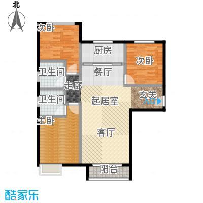 北京城建・世华泊郡118.00㎡4号楼户型3室2厅2卫