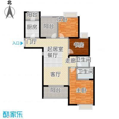 鑫苑鑫城119.00㎡C2户型3室2厅2卫