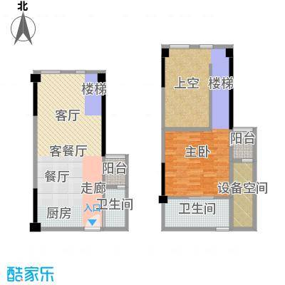 迪纳酒店公寓93.07㎡02、09-B户型1室1厅2卫
