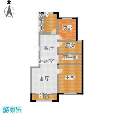 香江铂朗明珠105.98㎡高层G户型3室2厅1卫