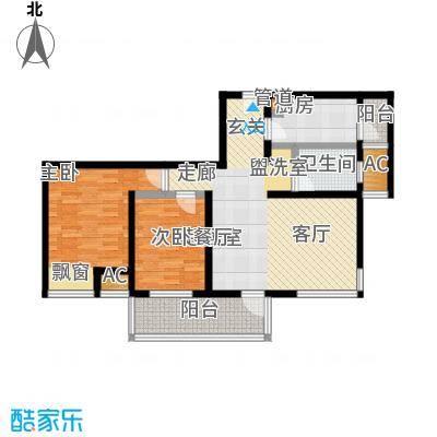 亿城左岸香颂88.00㎡亿城左岸香颂户型图F2户型(2/6张)户型10室