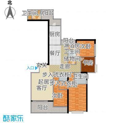 天汇广场243.00㎡A1和A7栋01单元户型4室4卫1厨