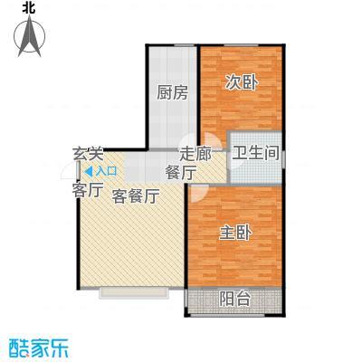 丽景盛园93.74㎡B2户型 2室2厅1卫93.74㎡户型2室2厅1卫