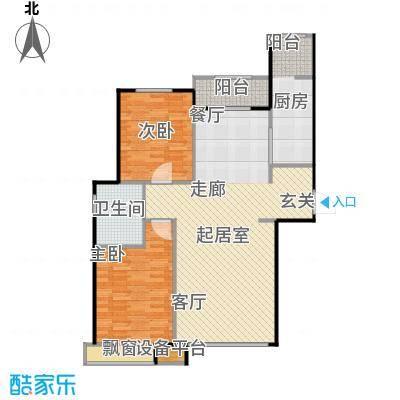 北环盛世115.00㎡住宅9#A户型2室2厅1卫