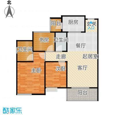 居益凯景中央94.00㎡户型3室2卫1厨