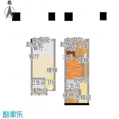 南国大武汉SOHO57.00㎡V座LOFT A2户型3室2厅2卫