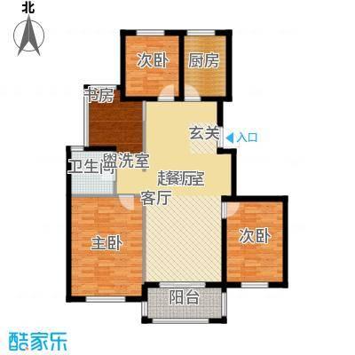 青枫国际110.00㎡青枫国际C户型2+1房户型3室2厅1卫