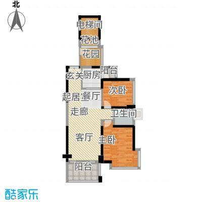 锦绣御园三-三十一层奇数层平面图户型