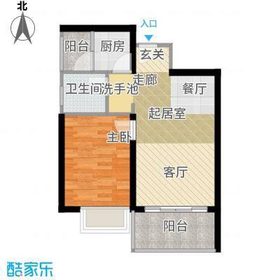 东海阳光户型1室1卫1厨