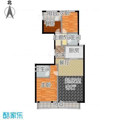 顺鑫・华玺瀚�138.00㎡N2户型3室2卫1厨