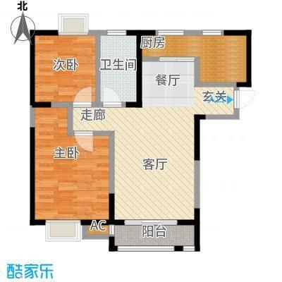 朗钜帕蒂奥21、23#-2室2厅1卫户型