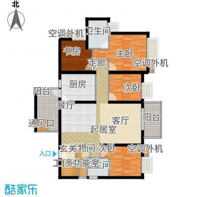 半岛城邦二期156.00㎡6栋2单元C+D 四加一房两厅三卫户型