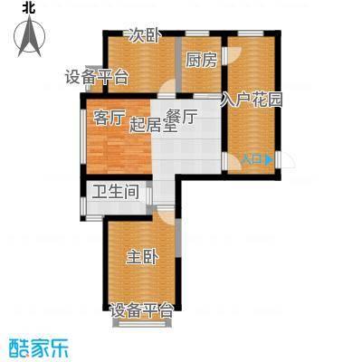正源吉祥e家祥福园89.93㎡C户型89.93平米户型图户型2室2厅1卫