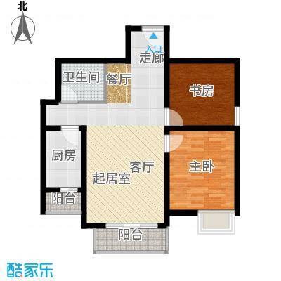 新世界阳光花园91.64㎡两室两厅一卫户型2室2厅1卫