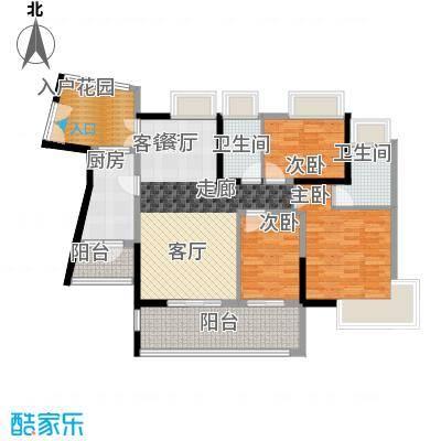 香樟国际104.02㎡A户型3室1厅2卫1厨