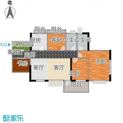 丹梓龙庭A/D栋奇数层户型4室1厅2卫1厨