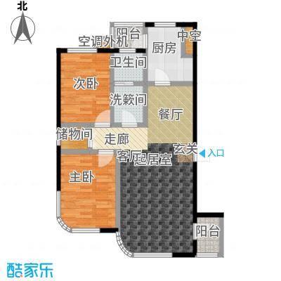 慧谷阳光C户型2室2厅1卫1厨 79.33㎡户型2室2厅1卫