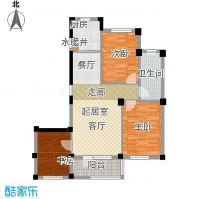 岚山著作90.00㎡I 三室二厅一卫户型3室2厅1卫